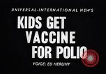 Image of polio vaccination California United States USA, 1955, second 4 stock footage video 65675033806