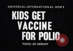 Image of polio vaccination California United States USA, 1955, second 5 stock footage video 65675033806