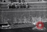 Image of life raft Cardiff Wales, 1935, second 8 stock footage video 65675033887