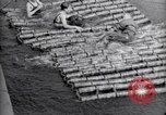 Image of life raft Cardiff Wales, 1935, second 12 stock footage video 65675033887