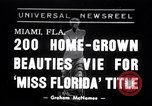 Image of Miss Florida contest Miami Florida USA, 1938, second 1 stock footage video 65675033898