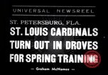 Image of Saint Louis Cardinals baseball team Spring training Saint Petersburg Florida USA, 1938, second 1 stock footage video 65675033899