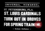 Image of Saint Louis Cardinals baseball team Spring training Saint Petersburg Florida USA, 1938, second 2 stock footage video 65675033899