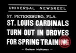 Image of Saint Louis Cardinals baseball team Spring training Saint Petersburg Florida USA, 1938, second 6 stock footage video 65675033899