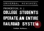 Image of railroad system Princeton New Jersey USA, 1938, second 2 stock footage video 65675033907