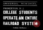 Image of railroad system Princeton New Jersey USA, 1938, second 3 stock footage video 65675033907