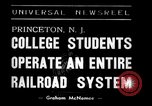 Image of railroad system Princeton New Jersey USA, 1938, second 5 stock footage video 65675033907