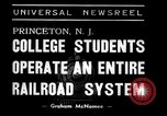 Image of railroad system Princeton New Jersey USA, 1938, second 7 stock footage video 65675033907