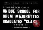 Image of drum majorette classes Long Beach California USA, 1938, second 1 stock footage video 65675033915