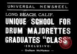 Image of drum majorette classes Long Beach California USA, 1938, second 3 stock footage video 65675033915