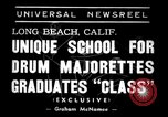 Image of drum majorette classes Long Beach California USA, 1938, second 6 stock footage video 65675033915