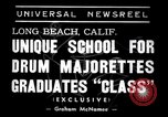 Image of drum majorette classes Long Beach California USA, 1938, second 7 stock footage video 65675033915