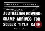 Image of sculls title race Toronto Ontario Canada, 1938, second 7 stock footage video 65675033922