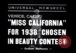Image of Miss California contest Venice Beach Los Angeles California USA, 1938, second 1 stock footage video 65675033923