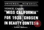 Image of Miss California contest Venice Beach Los Angeles California USA, 1938, second 3 stock footage video 65675033923