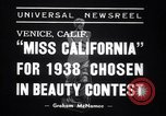 Image of Miss California contest Venice Beach Los Angeles California USA, 1938, second 6 stock footage video 65675033923