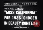 Image of Miss California contest Venice Beach Los Angeles California USA, 1938, second 7 stock footage video 65675033923