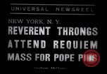 Image of requiem mass New York United States USA, 1939, second 1 stock footage video 65675033930
