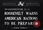 Image of Franklin Roosevelt Washington DC USA, 1940, second 1 stock footage video 65675033951