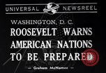 Image of Franklin Roosevelt Washington DC USA, 1940, second 2 stock footage video 65675033951