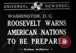 Image of Franklin Roosevelt Washington DC USA, 1940, second 3 stock footage video 65675033951