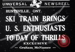 Image of inauguration of ski train Huntsville Ontario Canada, 1941, second 1 stock footage video 65675033965