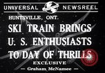 Image of inauguration of ski train Huntsville Ontario Canada, 1941, second 4 stock footage video 65675033965