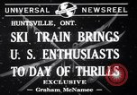 Image of inauguration of ski train Huntsville Ontario Canada, 1941, second 6 stock footage video 65675033965