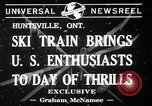Image of inauguration of ski train Huntsville Ontario Canada, 1941, second 7 stock footage video 65675033965