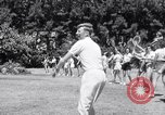 Image of Donald Budge runs a Tennis Clinic Miami Florida USA, 1938, second 12 stock footage video 65675033968
