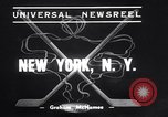 Image of ice hockey match New York United States USA, 1938, second 2 stock footage video 65675033969