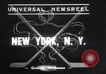 Image of ice hockey match New York United States USA, 1938, second 3 stock footage video 65675033969
