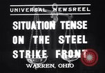 Image of steel workers strike Warren Ohio USA, 1937, second 2 stock footage video 65675033975