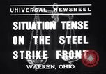 Image of steel workers strike Warren Ohio USA, 1937, second 3 stock footage video 65675033975