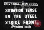 Image of steel workers strike Warren Ohio USA, 1937, second 6 stock footage video 65675033975