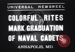 Image of midshipmen Annapolis Maryland USA, 1937, second 1 stock footage video 65675033979