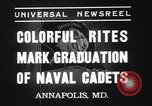 Image of midshipmen Annapolis Maryland USA, 1937, second 3 stock footage video 65675033979