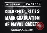 Image of midshipmen Annapolis Maryland USA, 1937, second 4 stock footage video 65675033979