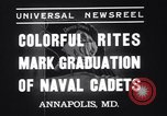 Image of midshipmen Annapolis Maryland USA, 1937, second 6 stock footage video 65675033979
