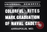 Image of midshipmen Annapolis Maryland USA, 1937, second 7 stock footage video 65675033979