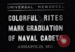 Image of midshipmen Annapolis Maryland USA, 1937, second 8 stock footage video 65675033979
