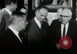 Image of John F Kennedy signs Nuclear Test Ban Treaty Washington DC White House USA, 1963, second 5 stock footage video 65675034022