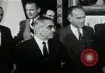Image of John F Kennedy signs Nuclear Test Ban Treaty Washington DC White House USA, 1963, second 10 stock footage video 65675034022