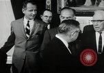 Image of John F Kennedy signs Nuclear Test Ban Treaty Washington DC White House USA, 1963, second 11 stock footage video 65675034022