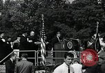 Image of John F Kennedy at American University Commencement Address Washington DC USA, 1963, second 10 stock footage video 65675034023