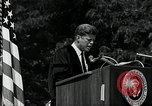 Image of John F Kennedy addressing American university commencement Washington DC USA, 1963, second 3 stock footage video 65675034024
