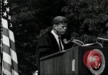 Image of John F Kennedy addressing American university commencement Washington DC USA, 1963, second 4 stock footage video 65675034024