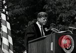 Image of John F Kennedy addressing American university commencement Washington DC USA, 1963, second 5 stock footage video 65675034024