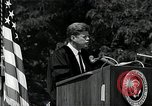 Image of John F Kennedy addressing American university commencement Washington DC USA, 1963, second 6 stock footage video 65675034024