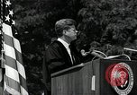 Image of John F Kennedy addressing American university commencement Washington DC USA, 1963, second 7 stock footage video 65675034024
